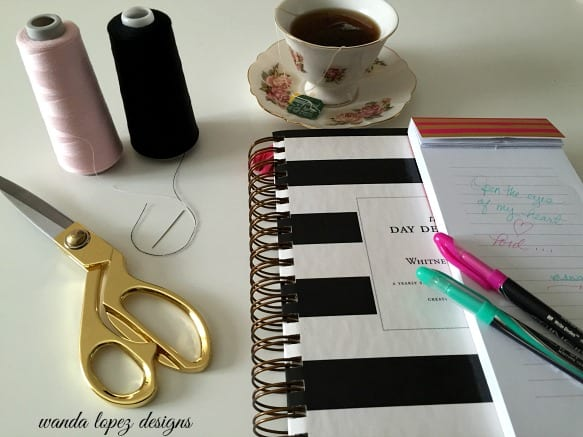 tea, notes, goals and schedules / wandalopezdesigns