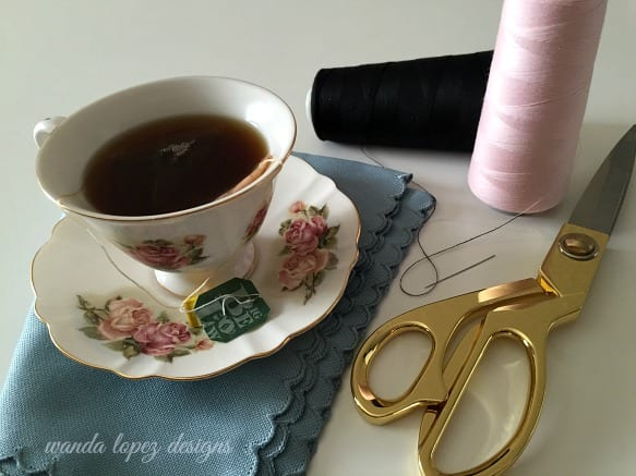 Tea Time and Thankfulness / W.L. designs #wandalopezdesigns