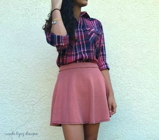 Plaid and Stripes {what she's wearing} #fashion Wanda Lopez Designs