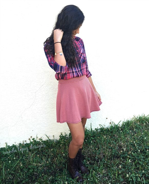 Plaid and Stripes {what she's wearing} / #WLdesigns
