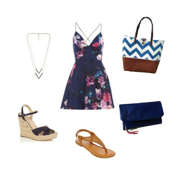 Summer Outfit / Girly and classy outfit for the summer with a change of shoes and bag from day to night / #WLdesigns