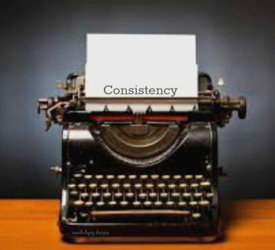 Consistency... are you blogging or running a business and find yourself struggling with consistency? I do, here are some things that are working for me! / #WandaLopezDesigns