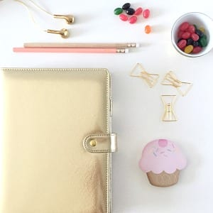 Dokibook planner / the one I currently use / blog post: 5 Desktop Must Have / if you have a desk you need this items / they are functional, girly and you want them in your life /