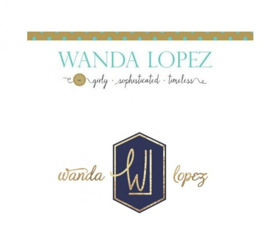 Before and after logo design / Re-brand reveal for Wanda Lopez Designs / exquisit handbags with a timeless aesthetic / #branding  #stayclassy