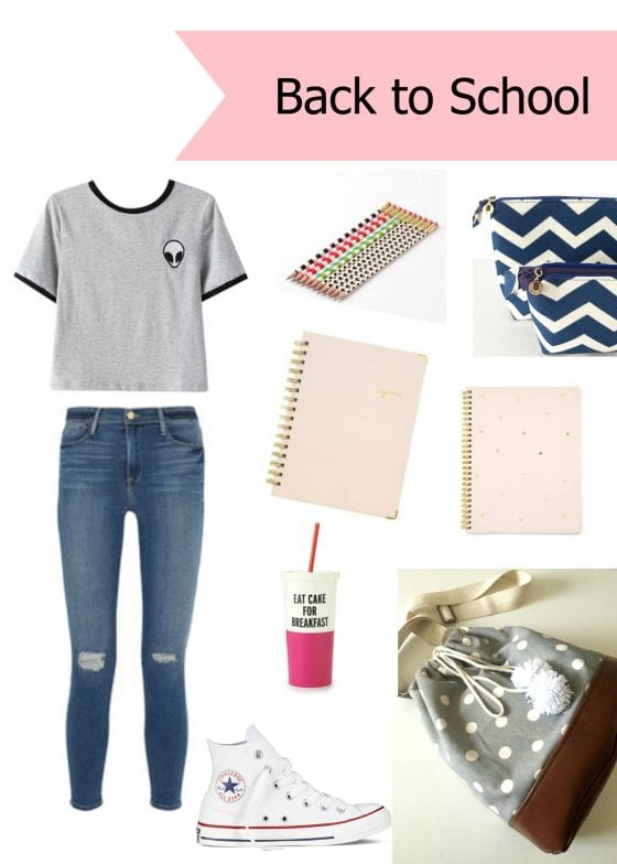#BackToSchool / a cute outfit and essentials perfect for back to school / pics by Wanda Lopez Designs / www.wandalopez.com / #fashionandlifestyleblog