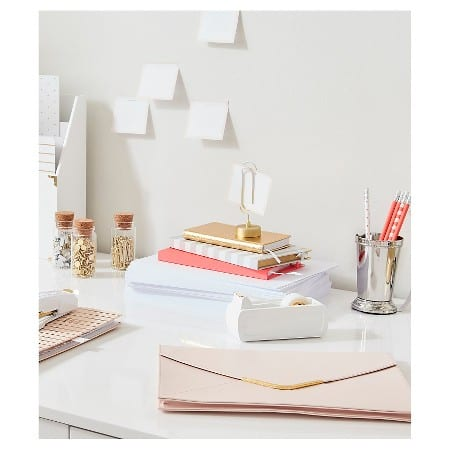image from Sugar Paper / desk supplies sold at Taget / blog post: 5 Desktop Must Have / if you have a desk you need this items / they are functional, girly and you want them in your life /