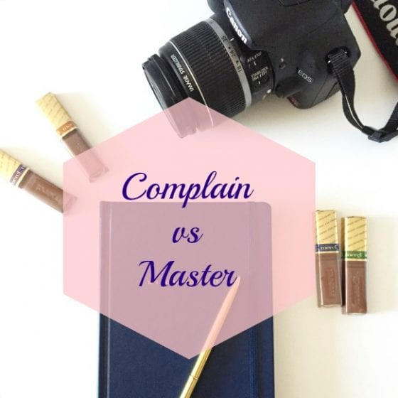 Wanda Lopez Designs - Complain vs Master in the blog www.wandalopez.com