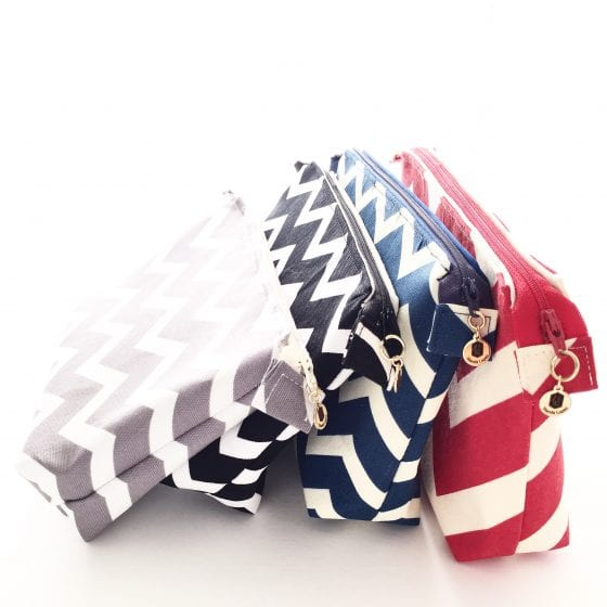 Wanda Lopez Designs chevron pouches in different colors available in the shop and some words about Complain vs Master in the blog www.wandalopez.com