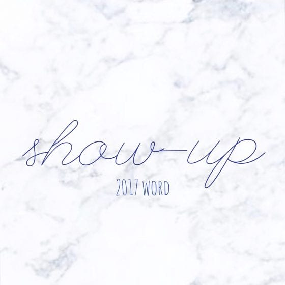 "My word of the year 2017 is ""show-up"", let me tell you what it means / Wanda Lopez Designs #lifestyleblog"