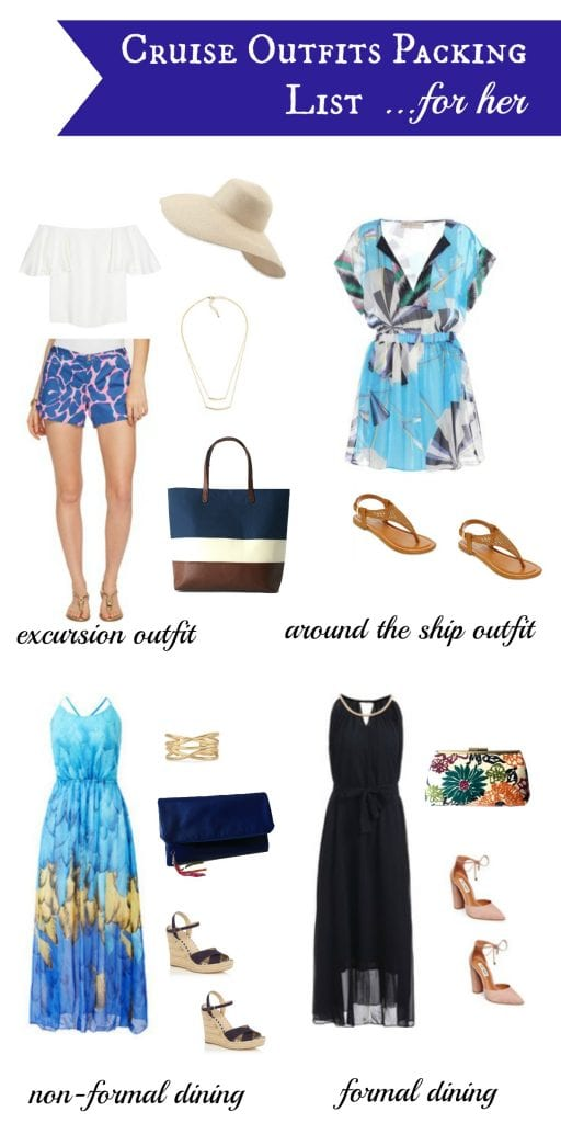 Packing for a cruise trip? Here are some outfit list that you should take into consideration when packing! Just for her / wandalopez.com