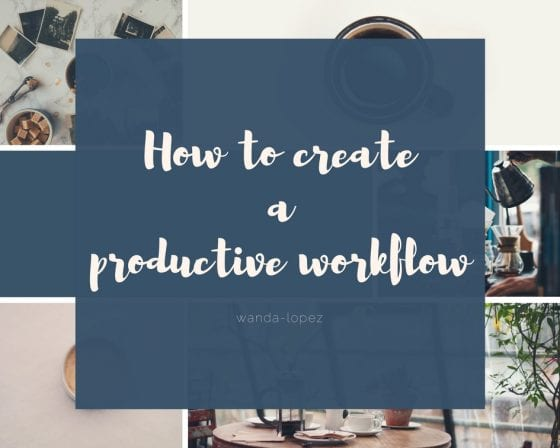 How to create a productive workflow, a schedule that helps you be more productive and intentional in your business. #business #scheduling #creativebusiness #biztalk
