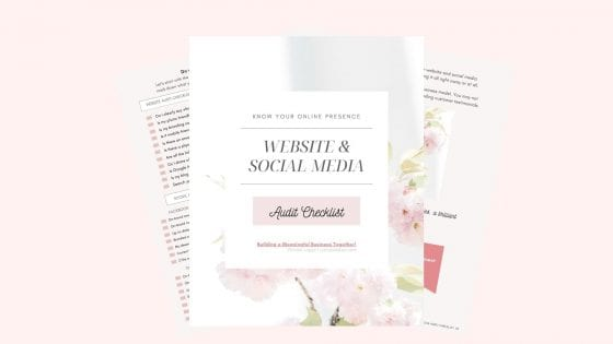 Website and Social Media Audit Checklist for creatives and surface pattern designers