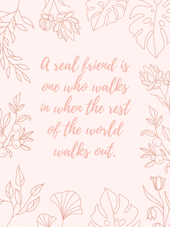 motivational quote for download- a real friend- by wandalopezdesigns